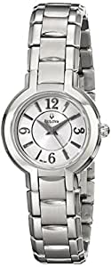 Bulova Women's Classic 96L147 Silver Stainless-Steel Quartz Watch with White Dial