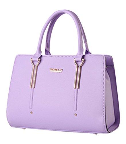 MissFox Borsa Shopping Bag Elegante Donna Vari Colori Viola