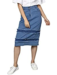Denim Women s Skirts  Buy Denim Women s Skirts online at best prices ... 5d2c93059