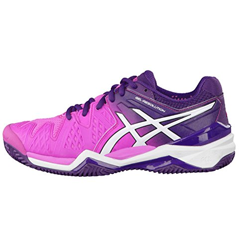 Scarpe Tennis donna Asics Gel-Resolution 6 Clay E553J (Rosado/Blanco Púrpura)