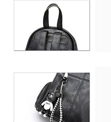 LAIDAYE Frau Fashion Schultern Rucksack Black