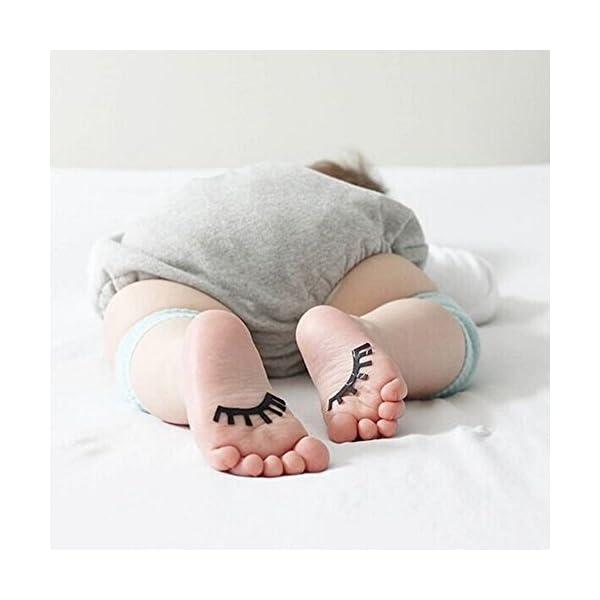 SWEETBB 3pares bebé niño Rodilleras, Baby Rodilleras con puntos de goma antideslizante, 0–24Meses 4