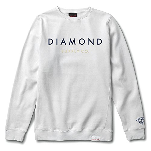 Diamond Supply Co. Men's Yacht Type Crewneck Sweatshirt White 2XL