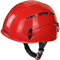 Casco universale per arrampicata e alpinismo ARGALI via ferrata in molti colori diversi moderni di Alpidex, Colore:ruby red