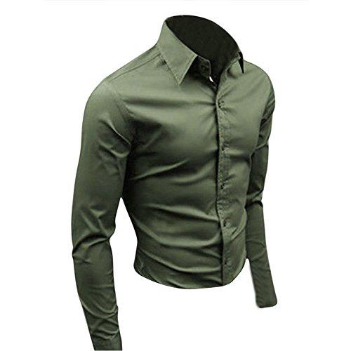 SODIAL (R) Moda Uomo alla moda di lusso camicia casuale