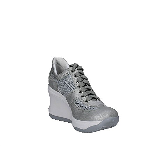 Agile By Rucoline 1800 A Sneakers Femme Argent