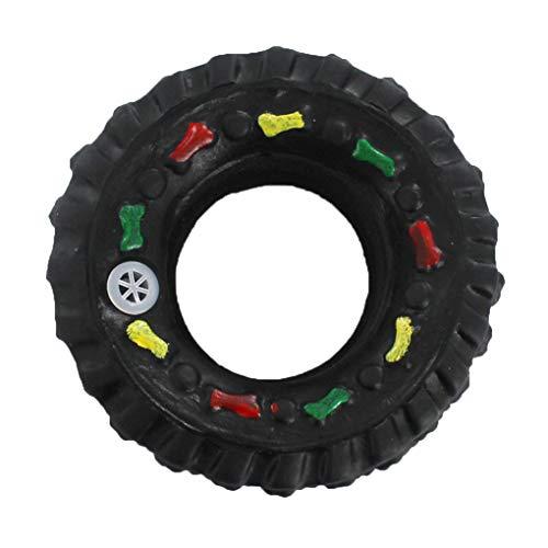 Timlatte Pet Sounding Reifen Spielzeug PVC Biss Chewing Kugel Spielzeug Zahnen Reifen 7.5cm Ausbildung Interactive Pet Molaren 1# 7.5cm -