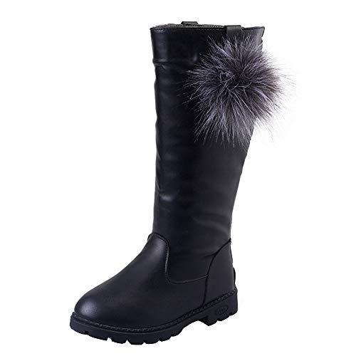 Beikoard Kinder Kind Baby Mädchen über Das Knie warme Stiefel Winter Schuhe Hohe Stiefel Weihnachtsfeiertags Stiefel Lässige Stiefel (Uk Niedliche Kleinkind-halloween-kostüme)