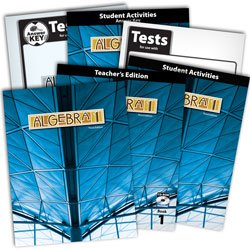 BJU Algebra 1 Subject Kit--Worktext, Teacher with CD, Student Activities with Key, Tests, and Keys