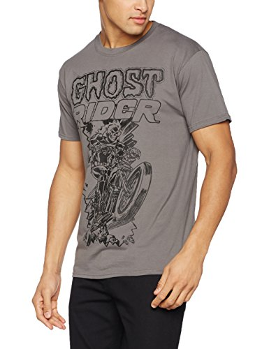 Marvel Herren T-Shirt Ghost Rider Grau (Grey)