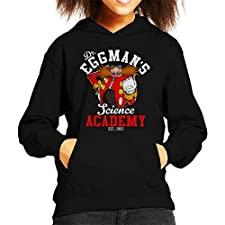 Dr Eggmans Science Academy Sonic The Hedgehog Kid's Hooded Sweatshirt