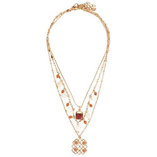 Parfois - Kurze, Doppelte Halskette Twilight Online Exclusiv - Damen - Größe One Size - Mehrfarbig