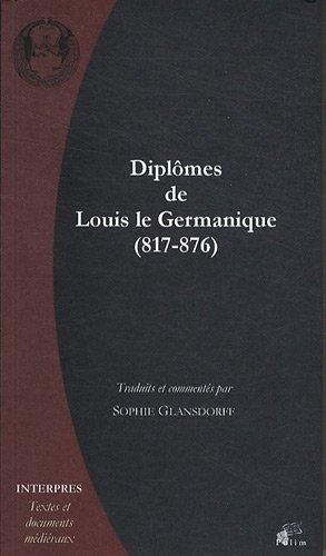 Diplômes de Louis le Germanique (817-876)