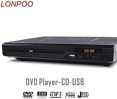 lonpoo LP -077 2.0 CH Full HD Reproductor de DVD (HDI, USB, MP3) Negro
