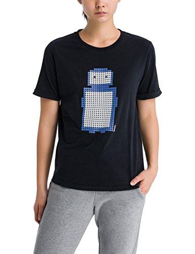 Bench Pixelman Print Tee, T-Shirt Donna Nero (Black Beauty Bk11179)