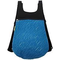Mochila de tela azul, Mochila de tela LLuvia de Meteoritos, Mochila original para mujer