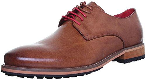 Original Justin Reece lacets de chaussures semelle robuste avec poignée Derby Brown LP2