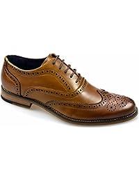 Cavani Zapatos de Cordones de Piel para Hombre Marrón Canela