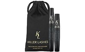 KL killer ciglia Ultimate fibra di frusta Extender e mascara | 9mL & 6ml set | 3D Moonstruck Edition-con Travel Pouch | Progettato per massimizzare il volume e la lunghezza | Ottenere ciglia killer