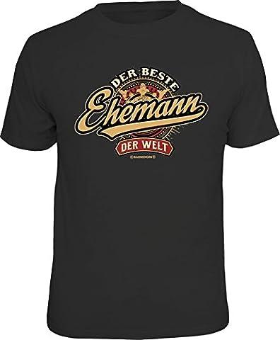 Original RAHMENLOS® Geschenk T-Shirt zum Hochzeitstag: Der beste Ehemann der Welt Größe S, Nr.6186