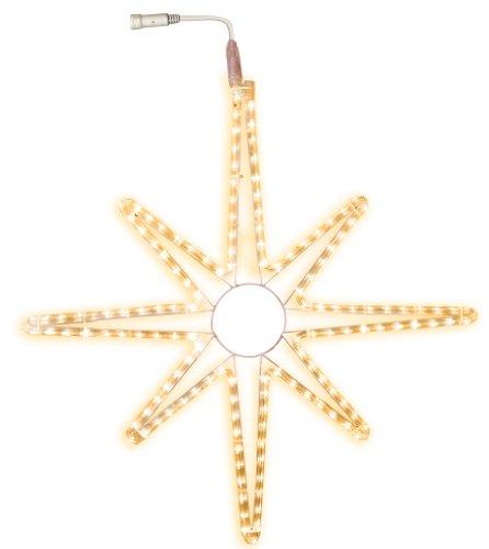 Best Season LED-Ropelight-Silhouette Stern koppelbar, Durchmesser circa 75 cm, 144 warm weiß LED outdoor 800-65