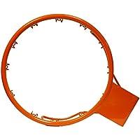 CADENAS ® - Aro Baloncesto antivandálico de Anclaje Fijo, Reglamentario 45 cm diámetro, 15 cm a Pared, Naranja