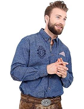 Michaelax-Fashion-Trade Krüger - Herren Trachtenhemd in Blau, Wilhelm (95100-80)