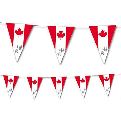 PARTY DISCOUNT Wimpelkette Kanada, 10 Flaggen, 20x30 cm - Entdecken Kanada
