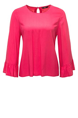 Only Onlnova Solid Vis Wide Sleeve Top Wvn, Blouse Femme Rouge chiné