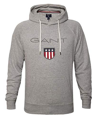 GANT Herren Embroidery Hoodie Kapuzenpullover für Herren, Size:XL, Farbe:Grey