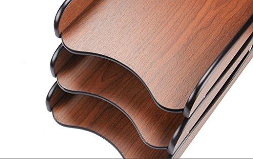 DFHHG® Soporte de libro, archivador de múltiples capas de la carpeta de información de la carpeta de la carpeta de información de escritorio creativo durable