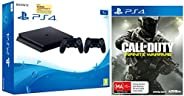 Sony PS4 1TB Slim Console with Additional Dualshock Controller (Black)&Call of Duty: Infinite Warfare (