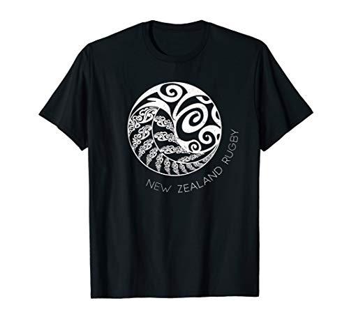 Neuseeland Rugby - Maori Inspiriert Kiwi & Silberfarn T-Shirt