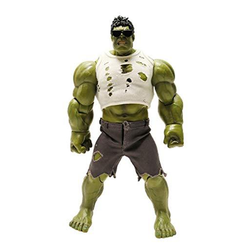 LULUDP Personnages de modèles animés Personnage Anime Modèle Avengers Modèle Articulations De Table Mobiles Décoration M-Arvel Lunettes Tissu Hulk Garçon Jouet 23 cm