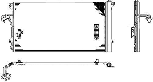 Preisvergleich Produktbild BEHR HELLA SERVICE 8FC 351 317-464 Kondensator, Klimaanlage