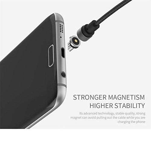 ALTech® 5 pacchetti Silver 3,3FT 360 ° connettore magnetico connettore libero di collegamento Display LED Micro cavo di ricarica per iPhone 7,7 Plus, 6S, 6 Plus, SE, 5S, 5, iPad, iPod 5 pacchetti dargento