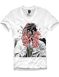 19a9db5cb E1Syndicate V-Neck T Shirt 2PAC Tupac Shakur