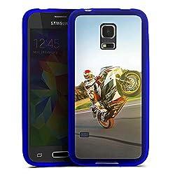DeinDesign Silikon Hülle transparent blau kompatibel mit Samsung Galaxy S5 Mini Case Schutzhülle Meddes Motorrad Motorsport