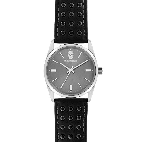 Zadig & Voltaire Unisex Date Quartz Watch with Stainless Steel Bracelet – ZVF242