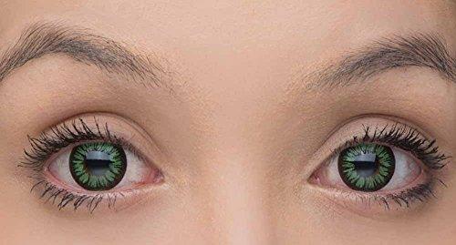 Grün Kontaktlinsen Farbe (Eye Effect farbige Kontaktlinsen in vielen Farben für schöne natürliche Augen + gratis Kontaktlinsenbehälter (Grün))