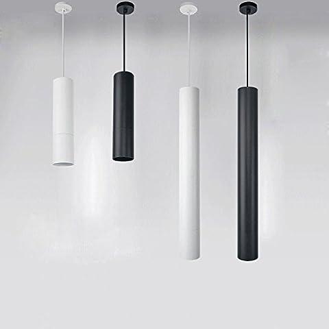 BRILIFE Cuisine Lampes suspendues Mode Led Lampes suspendues Restaurant / Salle à manger / Light Bar moderne cylindrique noir / blanc Pendentif Lampes Led 5W / 7W / 12W, Noir 30Cm, 5W, blanc chaud 3000K