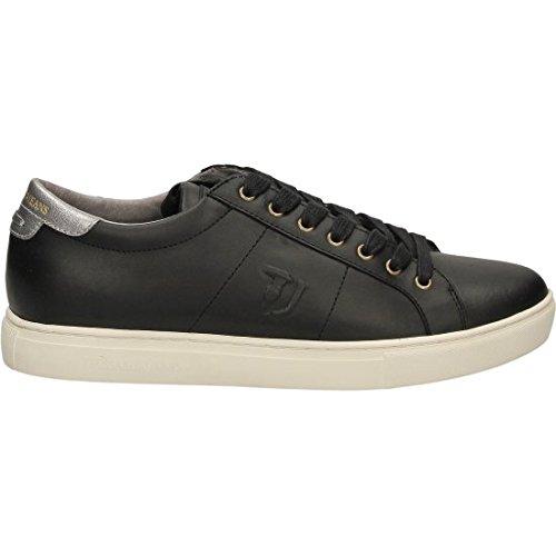 TRUSSARDI JEANS by Trussardi , Chaussures de sport d'extérieur pour homme noir noir/argent 40 EU noir/argent