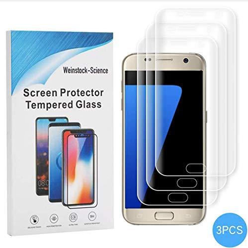 Weinstock-Science |3D 3X Schutzfolie für Samsung Galaxy S7 | Schutzfolie, Bildschirmfolie, Folie, Bildschirmschutzfolie