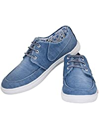 Mykon Blue Lace-up Casual Shoes For Mens - B07D23NFTZ