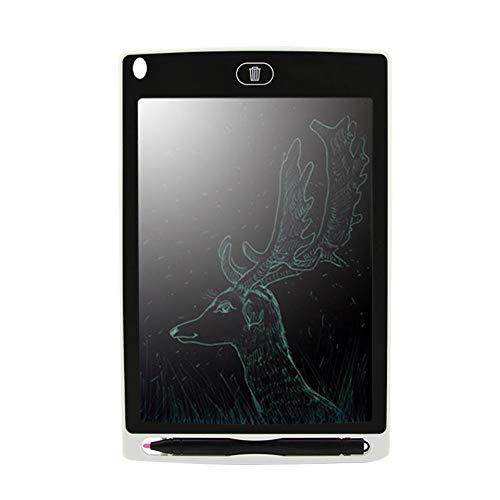 HXLF 8,5 '' Schreibtafel Digitale Grafiktabletts Elektronische Handschrift Zeichnung Tablet Pad Board Notizblock Stylus Pen for Kinder (Color : White) (Und Spielzeug Bücher, Magische Papier)