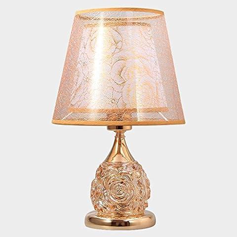 Lampe de bureau en verre moderne HALORI corps lumineux rose 2x interrupteur à bouton LED petite lumière de nuit pour salon chambre hôtel restaurant éclairage (or)