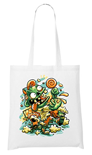 Handtaschen Horrorfilm (Candy Monster Bag White Certified Freak)