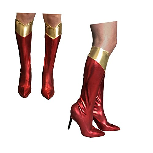 Kostüm Boot Abdeckung - LADIES SUPERGIRL FRAU HERO SUPER WONDER FANTASTISCHES KLEID KOSTÜM BOOT ABDECKUNGEN NUR
