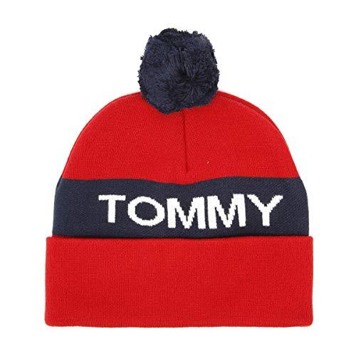 Tommy Hilfiger Rugby Stripe Herren Strickmütze Rot Rugby Stripe Beanie