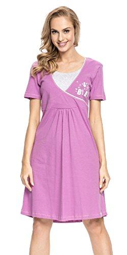 dn-nightwear Damen Stillnachthemd ( Weitere Farben ) Fuchsia